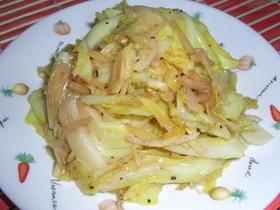 キャベツと生姜のすし酢炒め