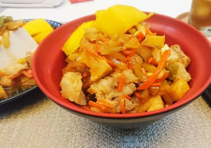 台湾マンゴーのうま辛い冷やし素麺♪
