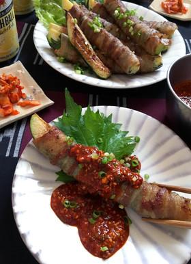 【ヤンニョムで食べる夏野菜。ズッキーニ】