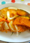 鮭と焼きカボチャの南蛮漬・ゆず胡椒風味