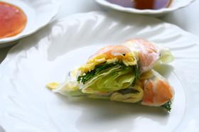 山形の伝統野菜 オカヒジキの生春巻き