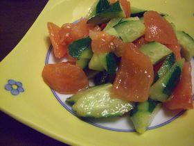 胡瓜とトマトのナムル