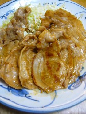 ノンオイルでヘルシー☆豚肉の生姜焼き
