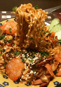 妄想アジア麺 プチプチ炒米ミーゴレン風
