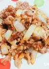 豚の薄切り肉炒め(焼肉風味)