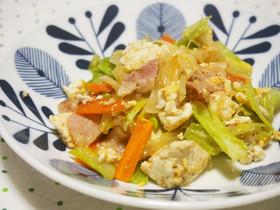 ベーコンと豆腐のチャンプルー♪