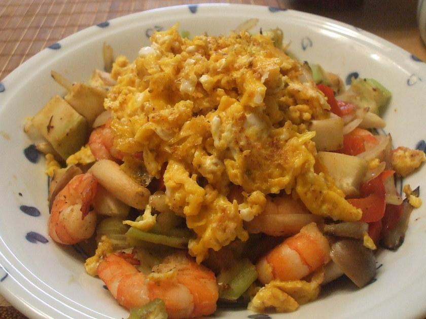 えびと卵の柚子胡椒炒め