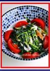 簡単!ヘルシー!豆苗と若芽の竹輪サラダ