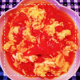 鶏がらで簡単!トマトと卵の中華炒め