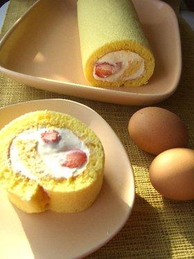 いちごのふわふわロールケーキ