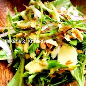豆腐と水菜の胡麻ドレサラダ♪♪