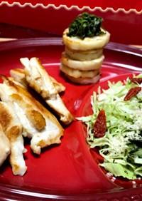 ムネ肉&大和芋焼き