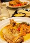 定番:鶏肉の白ワイン煮