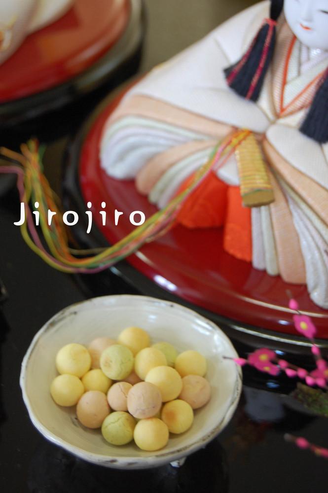 ひな祭りに☆三色卵ボーロ