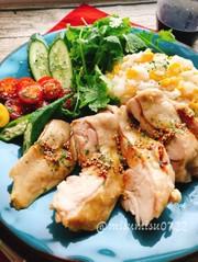 とうもろこしご飯の海南鶏飯(動画有)の写真