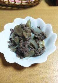 下味冷凍☆牛肉、ごぼう、玉ねぎの簡単炒め