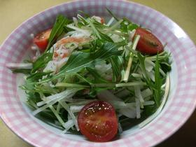 シャキシャキ水菜サラダ♪