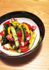 タコと夏野菜のマリネ