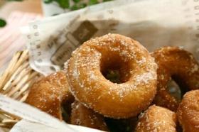 ホットケーキミックスで作る豆乳ドーナツ