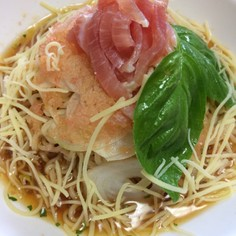 冷凍トマトのイタリアン冷やし麺