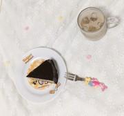 チョコムースケーキの写真