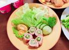 お弁当に♡夏野菜の肉巻き♪