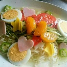 サッポロ一番塩らーめんで☆七夕冷し麺