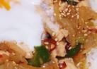 鶏肉のスタ丼(ピリ辛ニンニク醤油味)