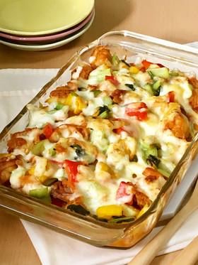 ベビーホタテと彩野菜のコチュチーズ焼き♪