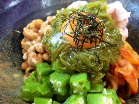 【糖質制限】ネバネバ納豆キムチ蕎麦