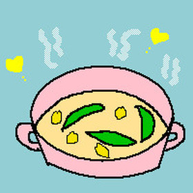 あさりとえんどう豆のミルクスープ