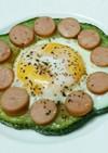 巨大ズッキーニの卵乗せステーキ