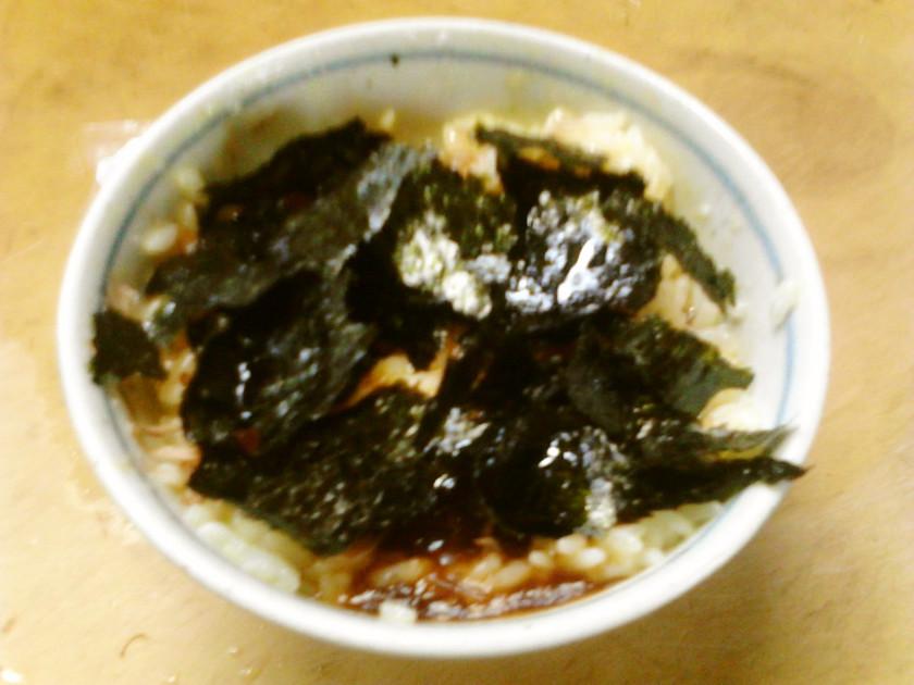 簡単朝食昼食究極の卵かけご飯 韓国海苔風