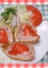 豚ローススライスのトマトトンカツ