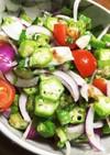 血糖値を下げるオクラのサラダ
