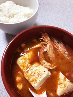 簡単おいしい純豆腐風トムヤムクン