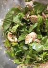 キヌア、チキン、香味野菜の和風サラダ