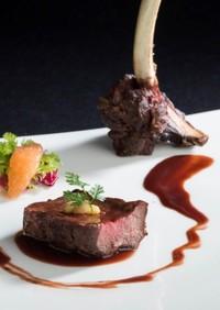 シカ肉のソテー赤ワイン風味のジビエソース