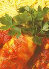 ロールキャベツとチキンのトマト煮込み