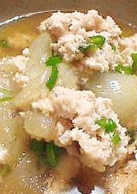 葉玉ねぎと鶏ひき肉のトロ~リ煮