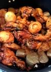 とり手羽とこんにゃくの中華風黒酢煮