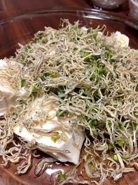 スプラウトのじゃこ豆腐サラダ