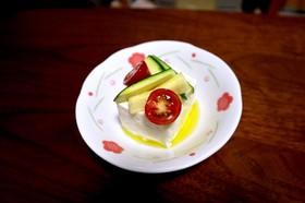 彩り野菜でもう一品!簡単オシャレ豆腐