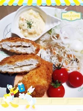 ヘルシーな鶏ササミのチーズメンチカツ