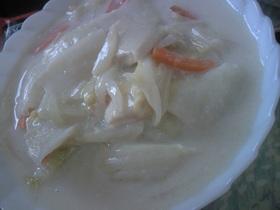白菜と高野豆腐のミルクスープ