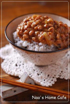 焦がしネギ味噌納豆