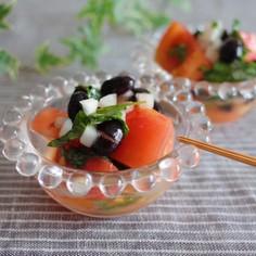 黒豆とトマトのさわやかマリネ