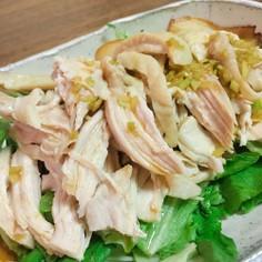 タレが美味しい!鶏胸肉で蒸し鶏!