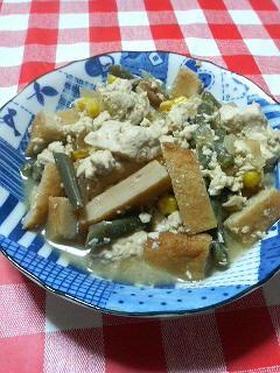 豆腐とかさつま揚げとかを煮ってみた