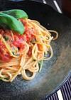 簡単!ランチ◎トマトとツナの和風のパスタ